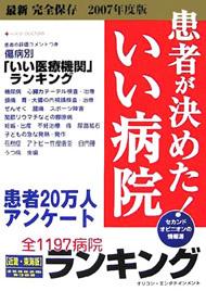 オリコンエンタテインメント「患者が決めた!いい病院」ランキング(2007年度 近畿・東海版)で紹介されました。