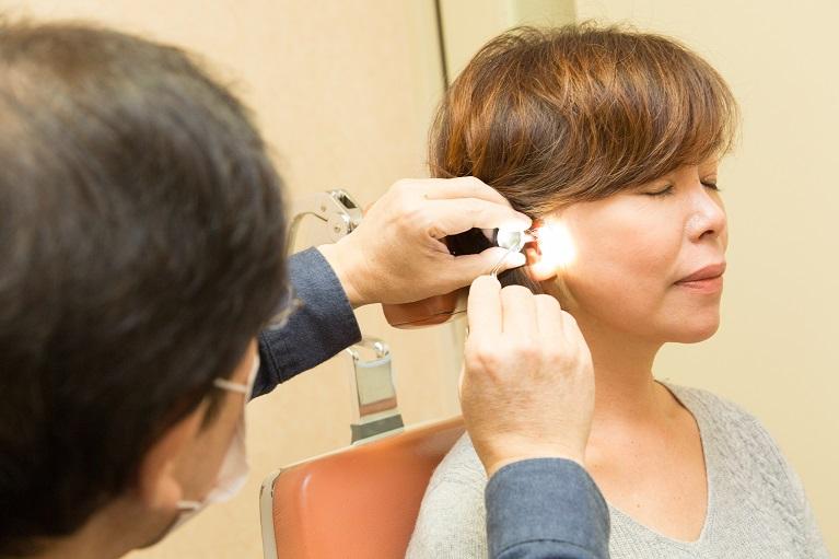 癒着性中耳炎の検査