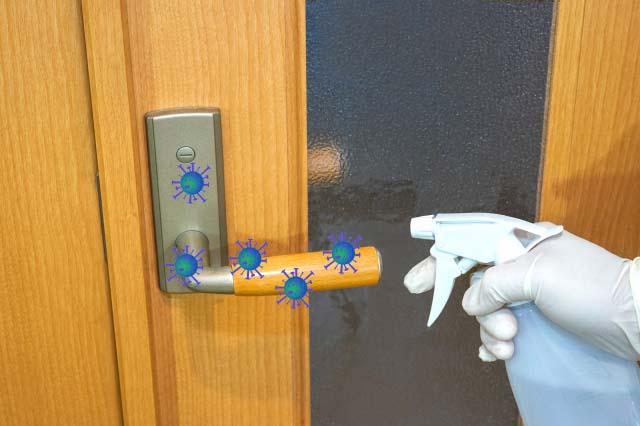 院内の消毒による新型コロナウイルス感染対策