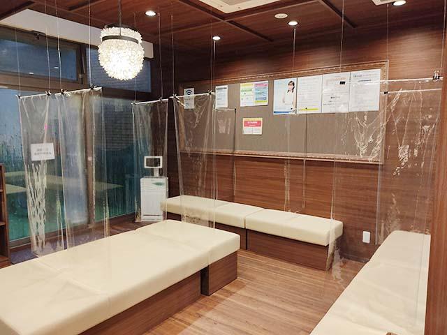 飛沫防止シートによる新型コロナウイルス感染対策