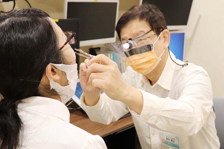 新型コロナウイルス感染対策を徹底する耳鼻科